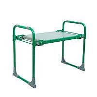 Скамейка-перевёртыш садовая складная 56х30х42,5 см, зелёная, максимальная нагрузка100 кг