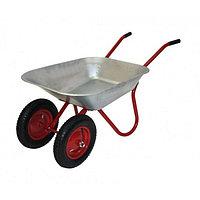 Тачка садовая, двухколесная: груз/п 120 кг, объём 85 л, пневмоколесо 3.25/3.00-80, кузов 0,6 мм