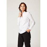 Рубашка женская Collorista, размер XL (50), цвет белый, хлопок 65% + п/э 35%