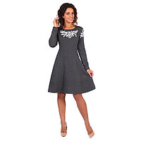 Платье женское Аиша цвет серый меланж, р-р 44