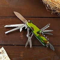 Нож швейцарский 13в1 рукоять камуфляж, фото 1