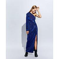 Платье женское MINAKU длинное, размер 48, цвет синий