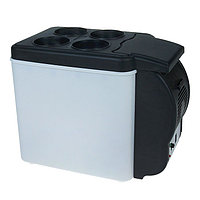 Холодильник автомобильный 6 литров, 12 В, функция подогрева, черно-белый