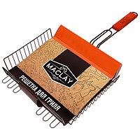 Решетка гриль для мяса 28 х 31 х 6 см, Premium, глубокая антипригарная