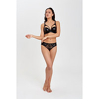 Комплект женский Collorista (бюстгальтер, трусы), цвет чёрный, размер 85С, 46-48