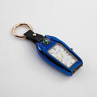 Зажигалка электронная с часами, компасом и фонарём,USB. спираль 7.5х2.5х2 см микс