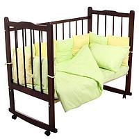 """Комплект в кроватку """"Мозаика"""" (4 предмета), цвета салатовый/лимонный 10407"""