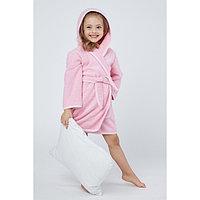 Халат махровый для девочки, рост 98-104 см, цвет розовый К07