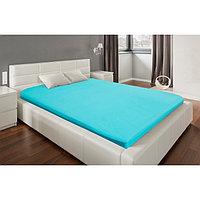 Простыня на резинке «Этель» 140х200х25 см, цвет бирюзовый, мако-сатин, 125 г/м²