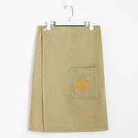 Килт(юбка) муж. махр. карман арт:КМ02, 70х150 олива, 300г/м, хл100%