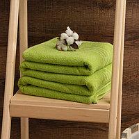 Простыня махровая, цвет зелёный, 150х200см, 315г/м, хл100%