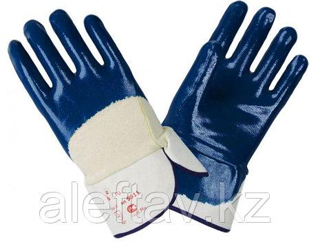 Перчатки плотные с залитым нитриловым материалом наладонником., фото 2
