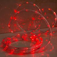 LED шнур 13 мм, круглый, 20 м, чейзинг, 2W-LED/м-24-220V, с контролл. 8р, красный