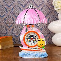 """Часы-светильник """"Утенок на лодочке"""", настольные, 23х14 см, микс"""