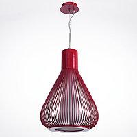Светильник-подвес «Френсис», красный, Е27, 1 × 60 Вт