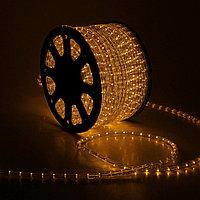LED шнур 13 мм, круглый, 100 м, фиксинг, 2W-LED/м-36-220V. в компл. набор д/подкл, ЖЕЛТЫЙ
