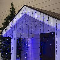 """Гирлянда """"Бахрома"""" уличная, УМС, 3 х 0.9 м, 3W LED-232-220V, нить тёмная, свечение синее"""
