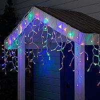 "Гирлянда ""Бахрома"" уличная, УМС, 3 х 0.6 м, 2W Каучук LED(IP65)-160-220V, нить белая, свечение мульти"