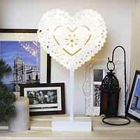 "Фигура на подставке световая ""Сердце ажурное"", 22 х 20 см, 20 LED, 3хАА (не в компл.)"