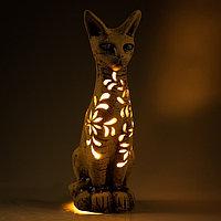 """Садовый светильник """"Кошка"""", шамот, 44 см"""