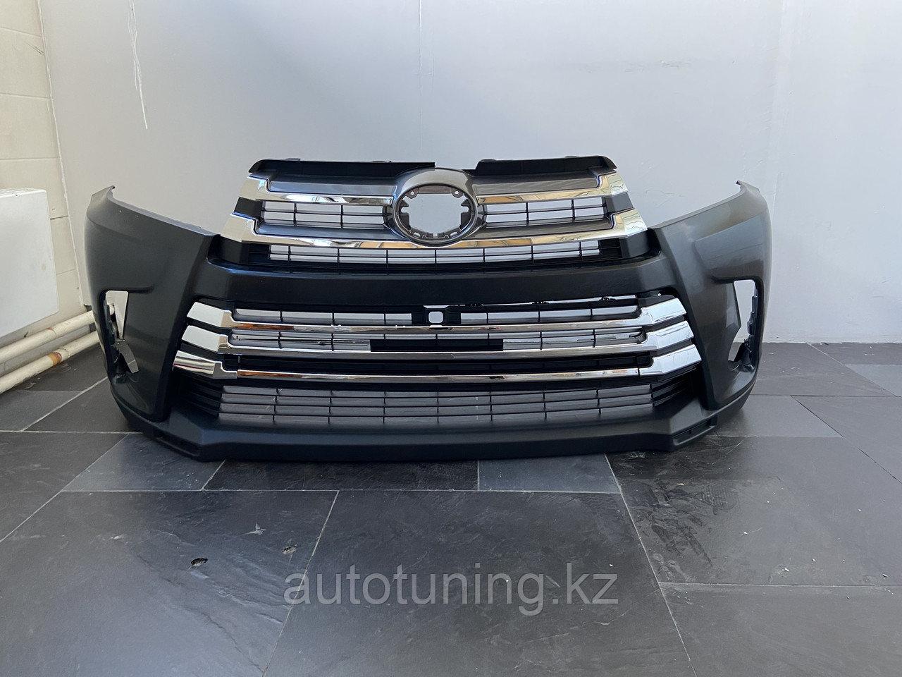 Бампер передний на Toyota Highlander 2016-2019
