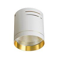 Светильник 5117.5000 LED 1х15W 100х100х105 чёрный/золотой