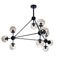 """Светильник """"Молекула"""" черный 10x40W E27 92x92x51 см"""