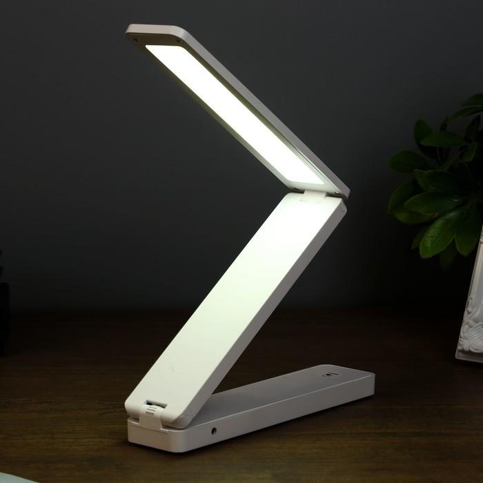 "Лампа настольная ""Байрон"" 3 режима 6Вт LED белый 4х18х37 см. - фото 2"