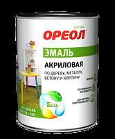 Эмаль акриловая, цвет зеленый, 0.9 кг, Ореол