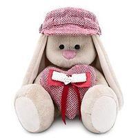 Мягкая игрушка 'Зайка Ми' в кепке и с сердцем, 23 см