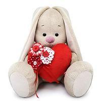 Мягкая игрушка 'Зайка Ми' с красным сердечком, 23 см
