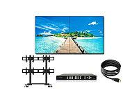 Комплект видеостены 2 - состоит из 4шт. панелей Philips BDL4988XC/00, 1шт. мобильная стойка Wize VWM263, 1шт.