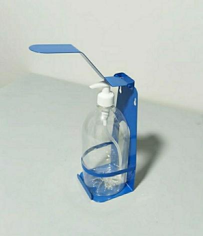 Локтевой настенный дозатор с бутылкой 1 л., фото 2