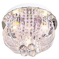 """Люстра круг """"Цветочный сад"""" 3 лампы+светодиоды 15W E27 хром 30х30х25 см"""
