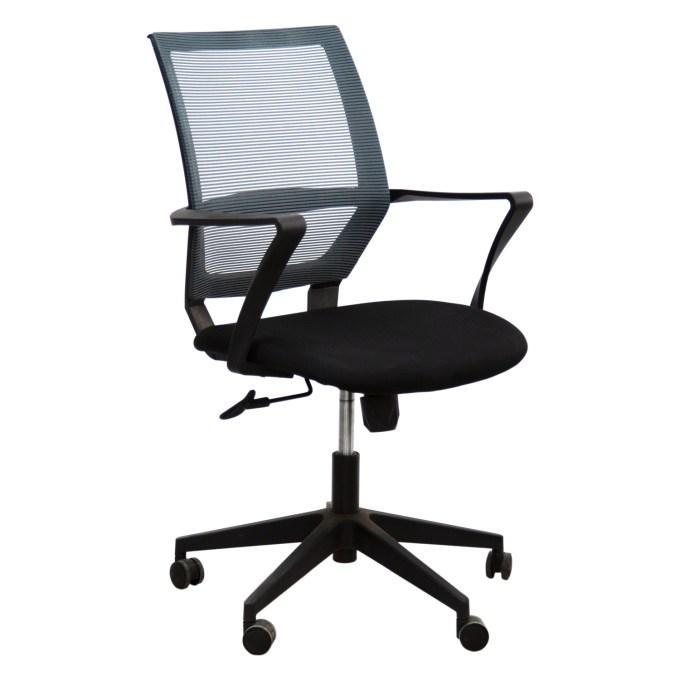 Кресло №D1-186BB черно-серое