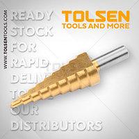 Ступенчатое сверло с титановым покрытием / Titanium coated step drill bit Tolsen