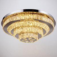 Люстраc с ПДУ 669812 LED 120Вт 3 режима 3000-6000К диммер хром 60х60х20 см