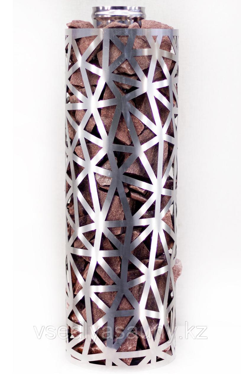 Сетка-каменка №2 (Лёд) — d-350 — h-750 мм — нерж 1,5 мм AISI 430