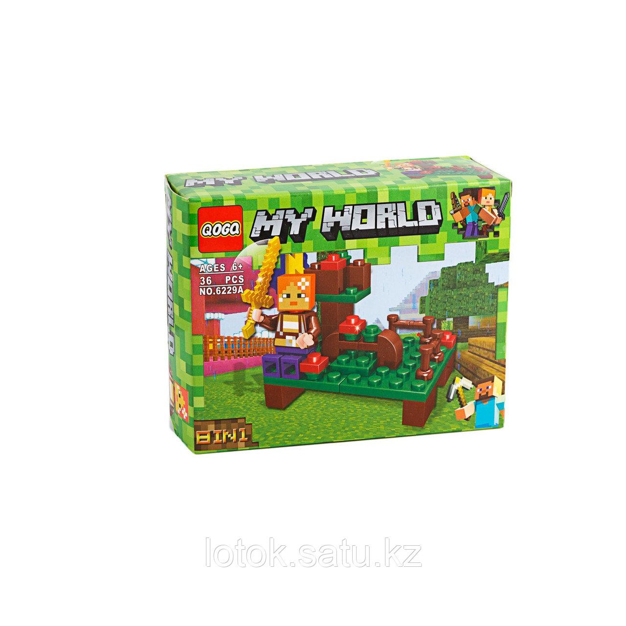 Конструктор My World (Minecraft) 6229А 36 деталей - фото 1