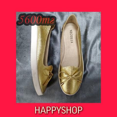Женские золотистые балетки 35-39 размер