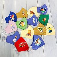 Детские защитные многоразовые маски с любимыми героями