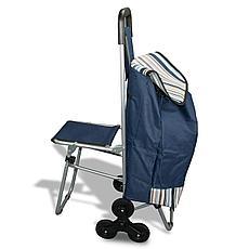 Сумка-тележка на колесах со складным стулом, фото 3