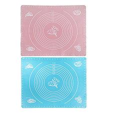 Силиконовый кулинарный коврик 40х50 см, цвет розовый, фото 2