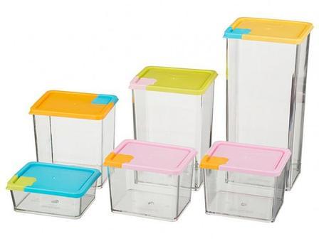Набор контейнеров для сыпучих продуктов 6 шт, фото 2
