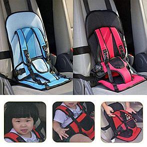 Бескаркасное автокресло для детей, цвет красный, фото 2