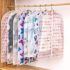 Подвесной чехол на молнии для хранения одежды прозрачный, фото 3