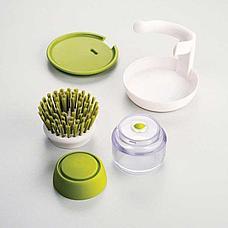Щетка для мытья посуды с дозатором моющего средства, фото 3