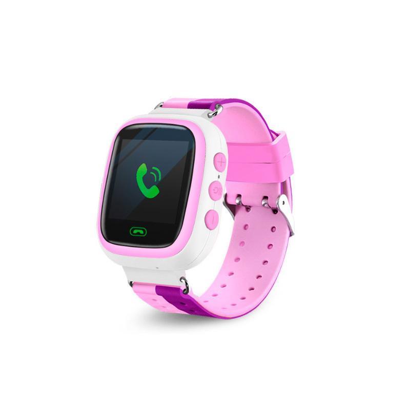 Детские смарт-часы Q80 1.44, цвет розовый + фиолетовый