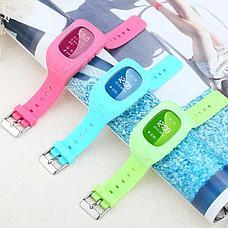 Детские смарт-часы Q50 с GPS, цвет голубой, фото 3