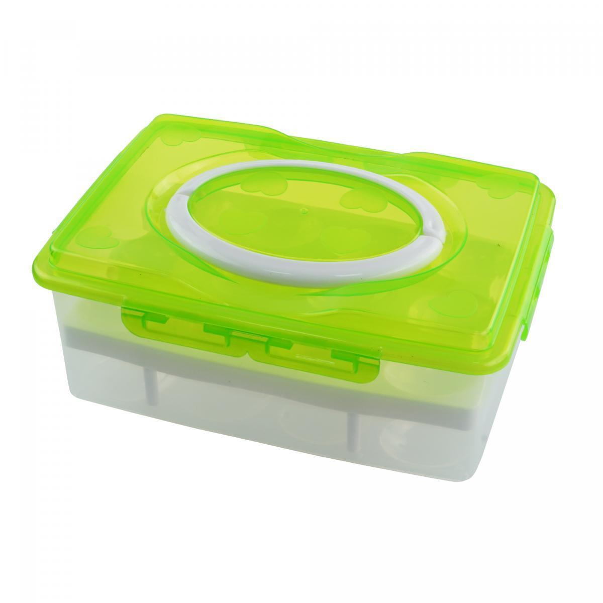 Контейнер для хранения яиц 24 шт., цвет салатовый